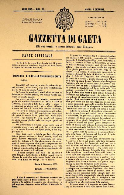 Gaeta Assedio Gazzetta di Gaeta