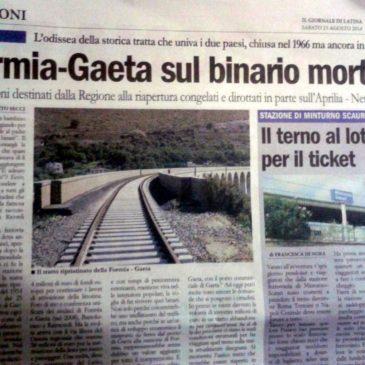 Littorina Gaeta Formia: i fondi, 26 Milioni di Euro in parte dirottati su altre tratte