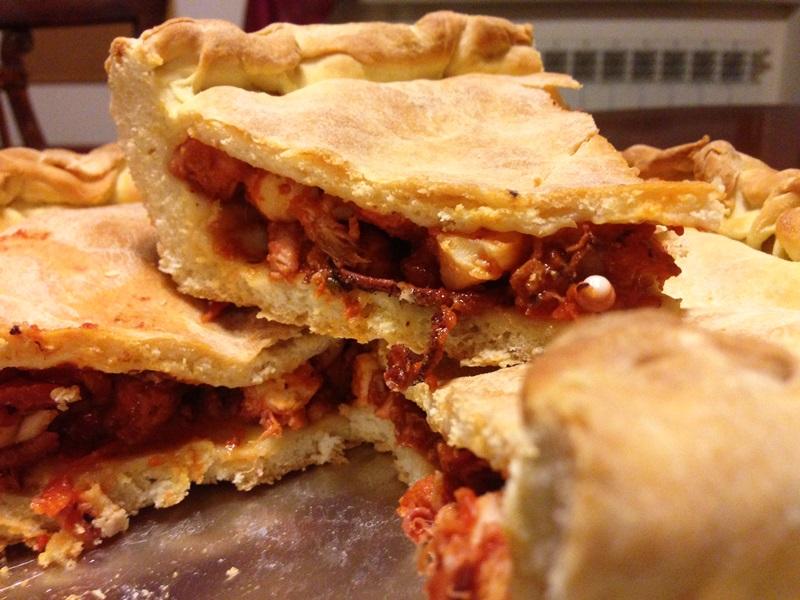 Ricetta prodotti tipici di gaeta la tiella di gaeta di for Piatti tipici roma