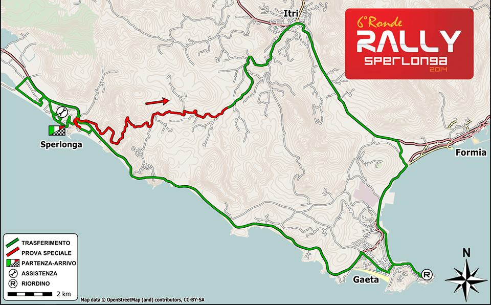 Mappa Rally di sperlonga 2014