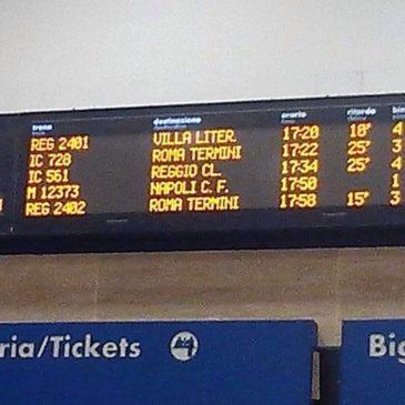 Treni: linea Formia-Roma, traffico  rallentato a causa di guasto