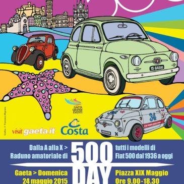 Gaeta FIAT 500 DAY: Raduno di Fiat 500 di ogni tempo e di auto d'epoca