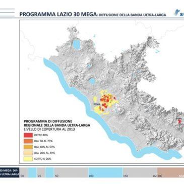 """""""LAZIO 30 MEGA"""". Interventi per la diffusione della Banda Ultra Larga nella regione Lazio"""
