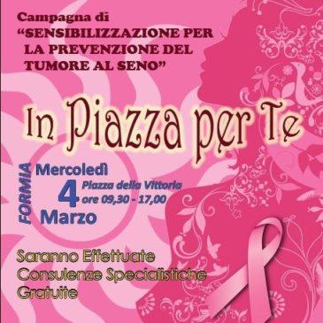 Formia: campagna di sensibilizzazione per la prevenzione dei tumori al seno