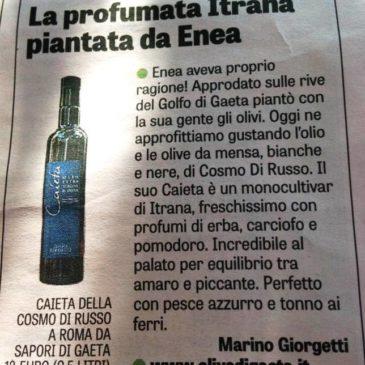 Gaeta e le sue Olive sulla Gazzetta dello Sport