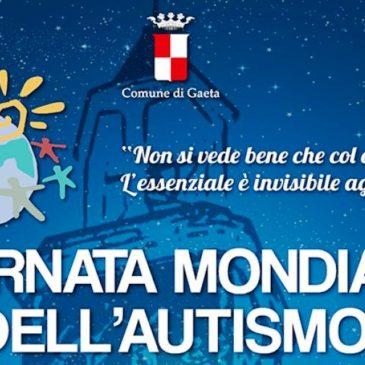 Gaeta, oggi 2 Aprile, si tinge di blu per la Giornata Internazionale dell'Autismo