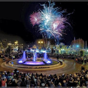Natale a Gaeta: L'incanto della fontana di San Francesco con fuochi pirotecnici