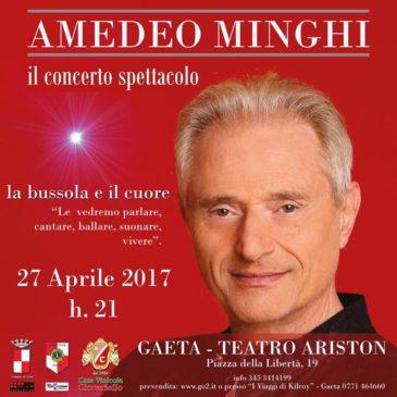 Gaeta: Amedeo Minghi sarà all'Ariston giovedì 27 aprile