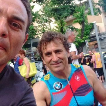 IRONMAN 70.3 Italy 2017: il campione pontino Marciano in competizione con Alex Zanardi