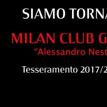 Il Milan Club Ufficiale torna a Gaeta: aperte le iscrizioni