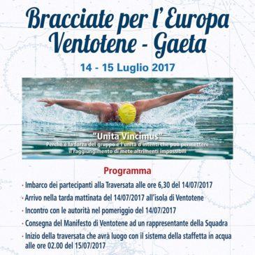 Bracciate per l'Europa… Ventotene – Gaeta: l'iniziativa de La squadra Serapo Sport