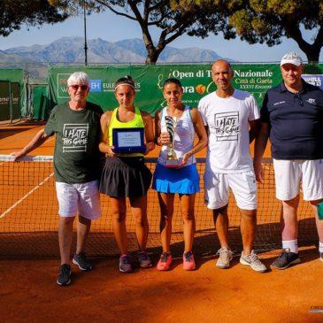 """Valentin Florez e Anna Floris sono i vincitori della """"Sara Cup""""XXXVI Edizione Open Nazionale di Tennis Città di Gaeta"""