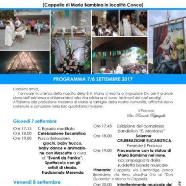 Gaeta: festa della Natività di Maria a Conca