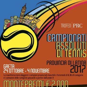 Il Circolo Tennis Gaeta ospiterà i Campionati Assoluti Provinciali 2017