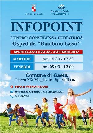 Centro Consulenza Pediatrica Bambino Gesù: Attivo l'Infopoint Dal 3 ottobre