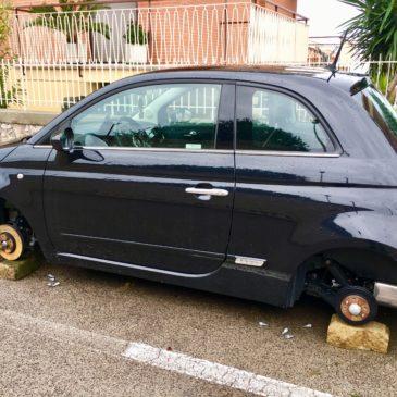 Gaeta: ancora furti di ruote, questa volta in Via Cuostile