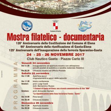 Gaeta: Questo weekend, Mostra Filatelico Documentaria