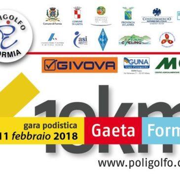 Gara Podistica Gaeta-Formia: 11 Febbraio 2018