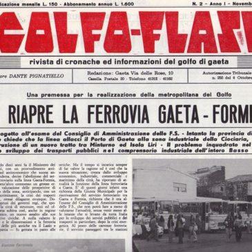Si riapre la ferrovia Gaeta-Formia? Era il 1974