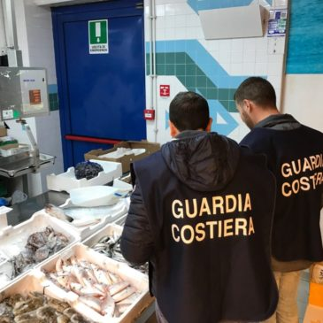 Pesca illegale e violazione norme igieniche: 20000 euro di verbali elevati