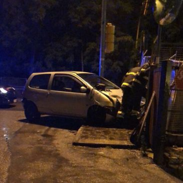 Gaeta: auto distrugge cabina del Gas sulla Flacca