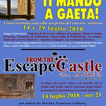 """Visita teatralizzata """"Ti Mando a Gaeta"""": un nuovo modo di vivere il castello"""