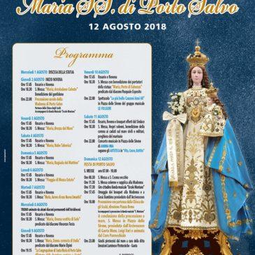 Festa della Madonna di Porto Salvo 2018: il programma