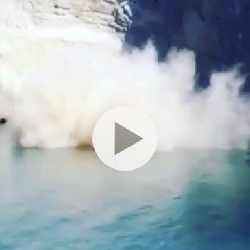 *Video* Ponza: Crolla un costone della spiaggia di Chiaia di Luna