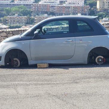 Gaeta: razzia di ruote, questa notte a Colle Sant'Agata