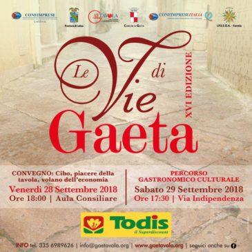 Le Vie di Gaeta 2018: Ecco il programma ufficiale
