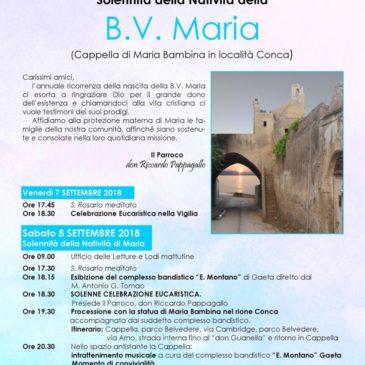 Gaeta: festa della Natività di Maria in località Conca