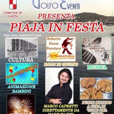 """Gaeta: Piaja in Festa mercoledì 13 Agosto. Quartiere """"la piaja"""""""