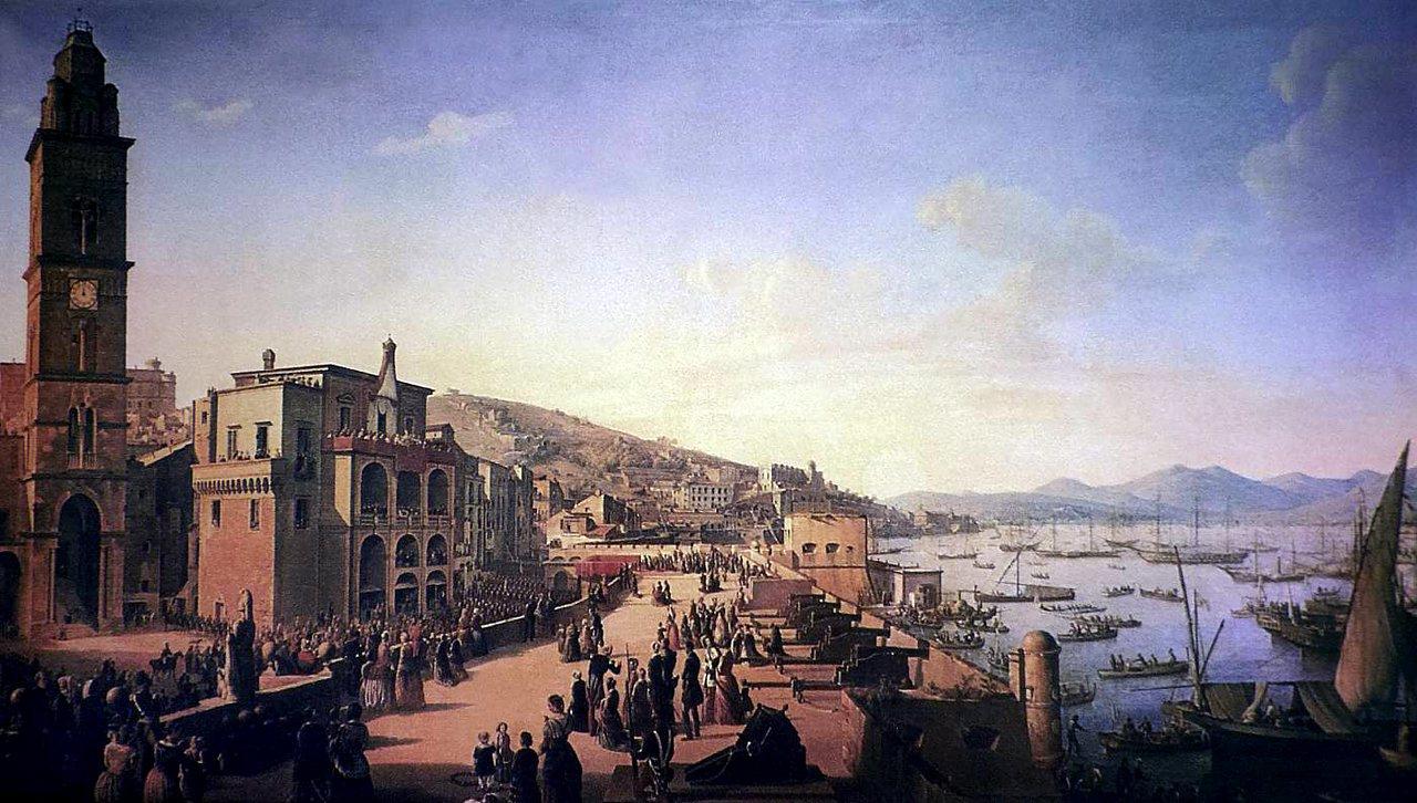 Gaeta Pio IX benedice la folla 8 dicembre 1848. 2#001