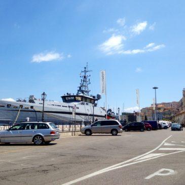 """Gaeta, foto: E' arrivato nella notte, presso la sede di Gaeta (LT), il Pattugliatore """"P.01 Monte Sperone"""""""