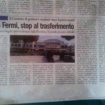 Liceo Fermi di Gaeta: Stop al trasferimento
