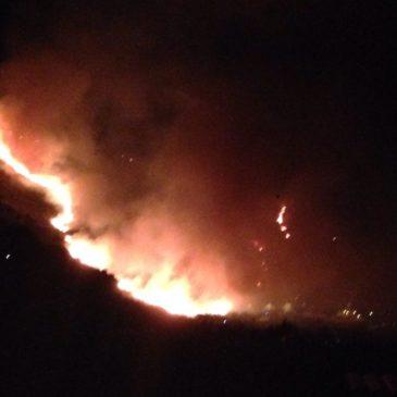 Devastante incendio sulle colline di Sperlonga, la situazione rientra nella normalità