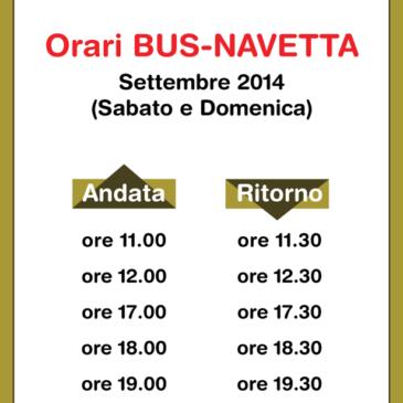 Gaeta Parco Regionale Riviera di Ulisse: Orari Bus Navetta Settembre 2014