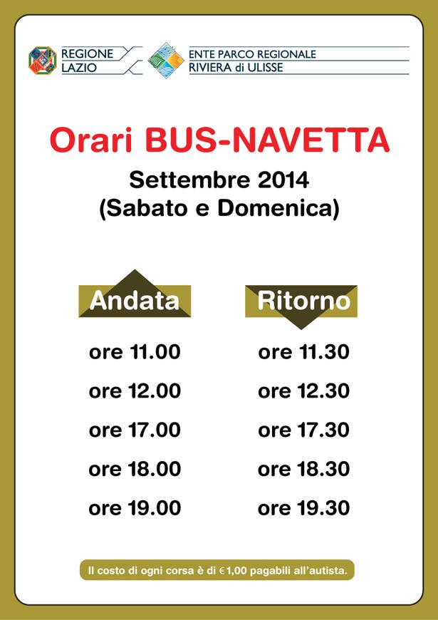 Orari Bus Navetta Parco rivieradi Ulisse