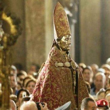 Napoli: Anche quest'anno Il sangue di San Gennaro si è sciolto alle ore 10.11 e il Papa visiterà Napoli