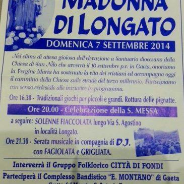 Gaeta: Festa della Madonna di Longato – 7 settembre 2014