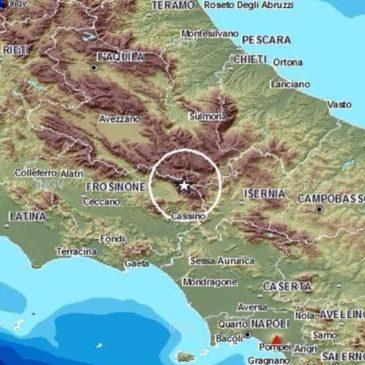 #news Terremoto nel frusinate di magnitudo 2.1