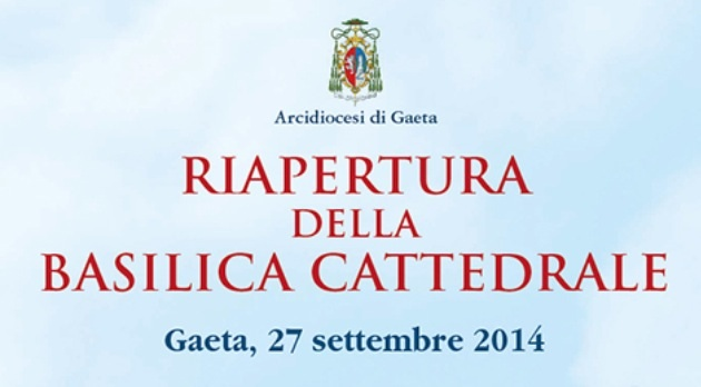 Gaeta riapertura della cattedrale in diretta TV