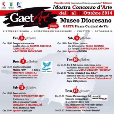 GAETArt: Ecco il programma dell'evento da scaricare – Dal 3 al 12 Ottobre