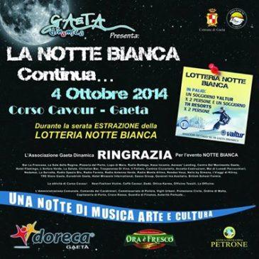 La Notte Bianca a Gaeta continua. Sabato 4 Ottobre. Scarica la brochure