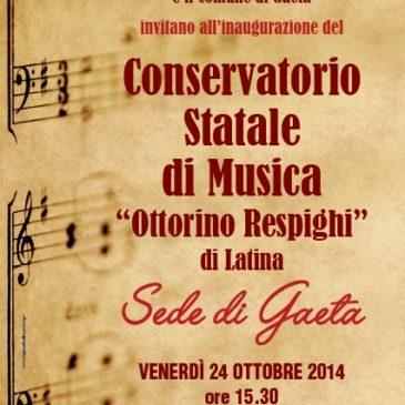 A Gaeta la nuova sede del Conservatorio di Musica Ottorino Respighi