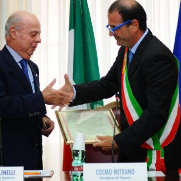 Gaeta ALI: in Convegno anche le emozioni del prof. Golinelli, insignito della cittadinanza onoraria