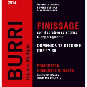 Gaeta Mostra Burri – Unico e Multiplo: finissage con il curatore scientifico Giorgio Agnisola