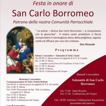 Gaeta: Festa di San Carlo Borromeo. Quartiere Piaja