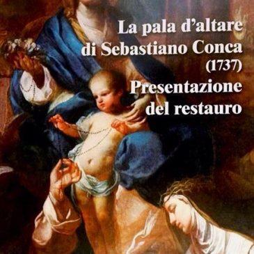 Gaeta: Presentazione del restauro della pala d'altare di Sebastiano Conca del 1737