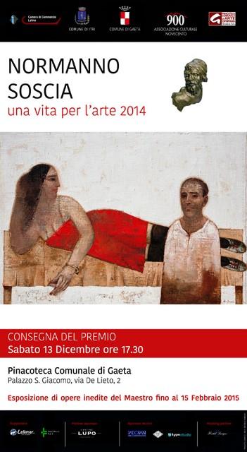 A Normanno Soscia il Premio Città Gaeta Una Vita per l'Arte 2014